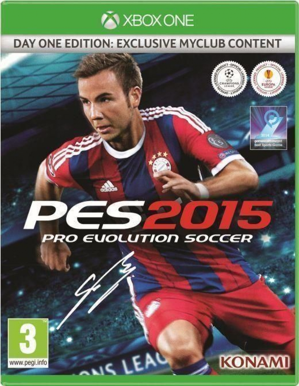Joc Pro Evolution Soccer 2015 D1 Edition pentru Xbox One imagine